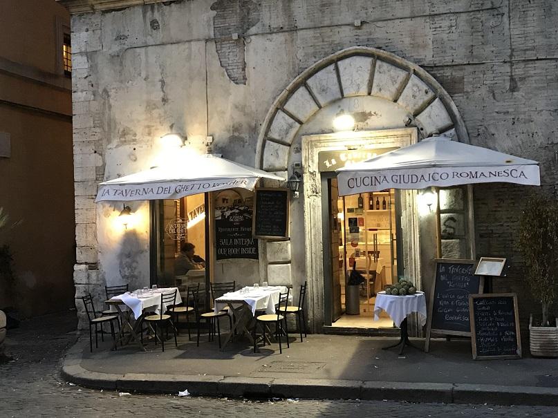 Restaurang i det f.d. gettot