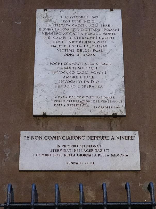 Minnestavla i det f.d. gettot