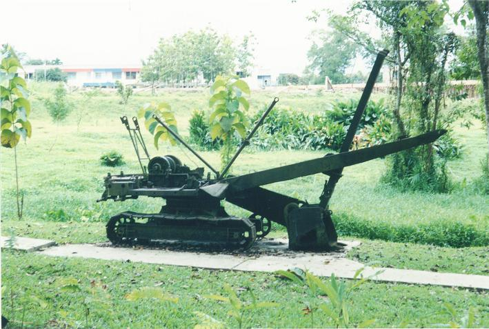 Grävmaskin som saboterades av en australisk krigsfånge