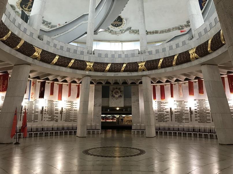 Hjältarnas hall inuti museet