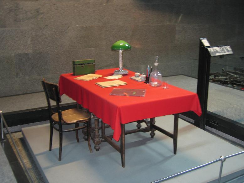 Bordet som fältmarskalk Paulus förhördes vid i general Shumilovs högkvarter