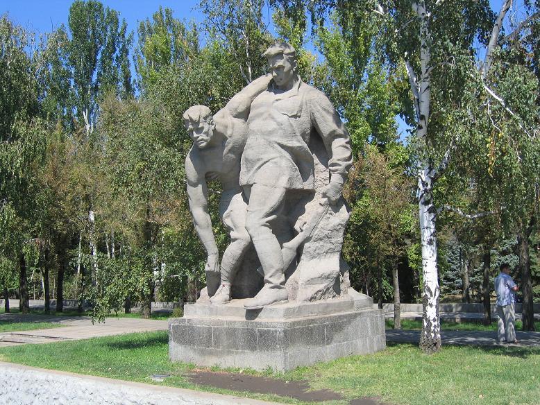 Glorifierande statyer vid Mamayev kurgan