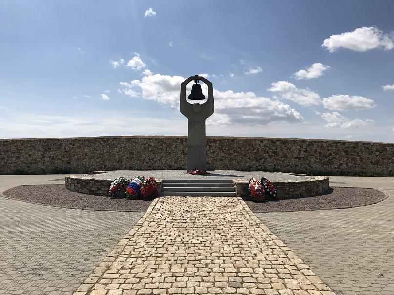 Rossoschka - Sovjetisk krigskyrkogård ca fyra mil nordväst om Volgograd/Stalingrad
