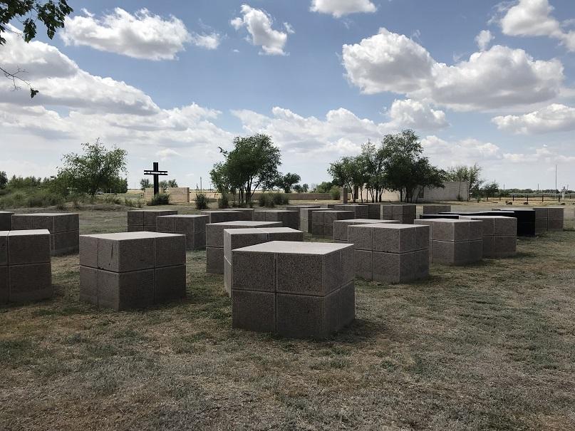 Rossoschka - Tysk krigskyrkogård ca fyra mil nordväst om Volgograd/Stalingrad