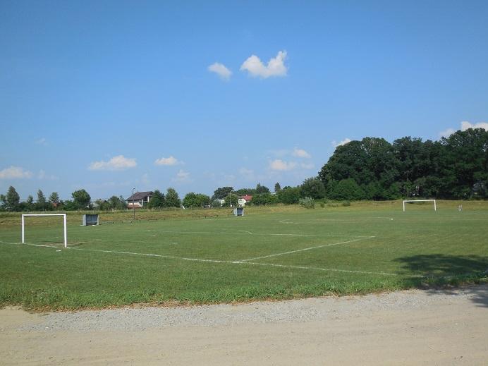 Fotbollsplan på det forna lägerområdet