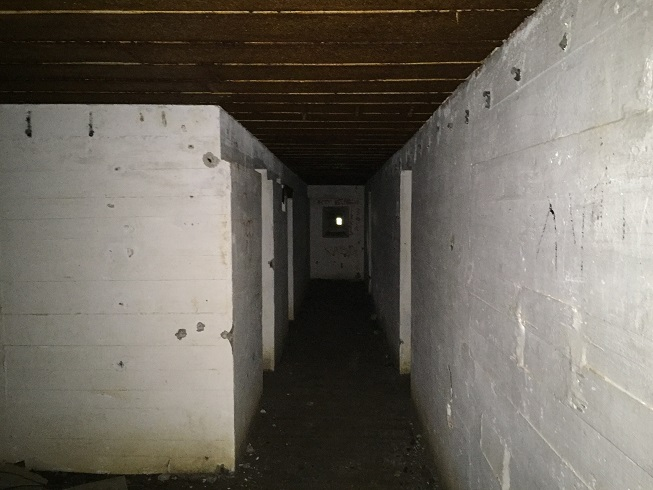 Inuti bunkern