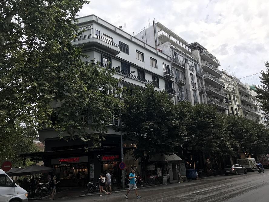 Ett av flera Gestapohus i Thessaloniki (Tsimiski 72, 546 22 Thessaloniki)