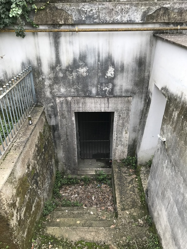 Ingång till Mussolinis bunker