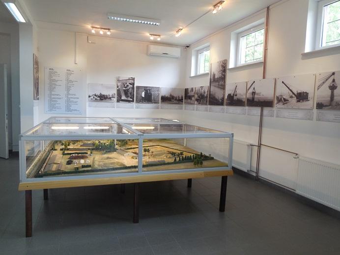 Modell över Treblinka i museet