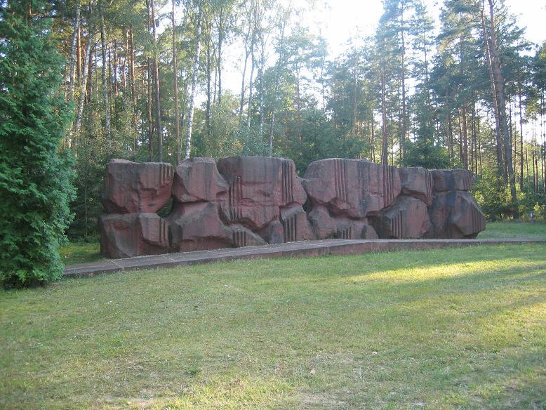 Minnesmonument vid avrättningsplatsen