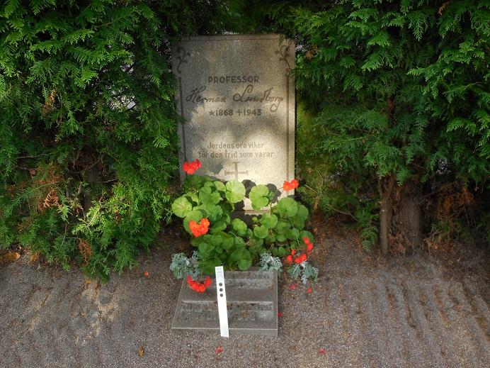 Herman Lundborgs grav vid familjegraven på Uppsalas gamla kyrkogård