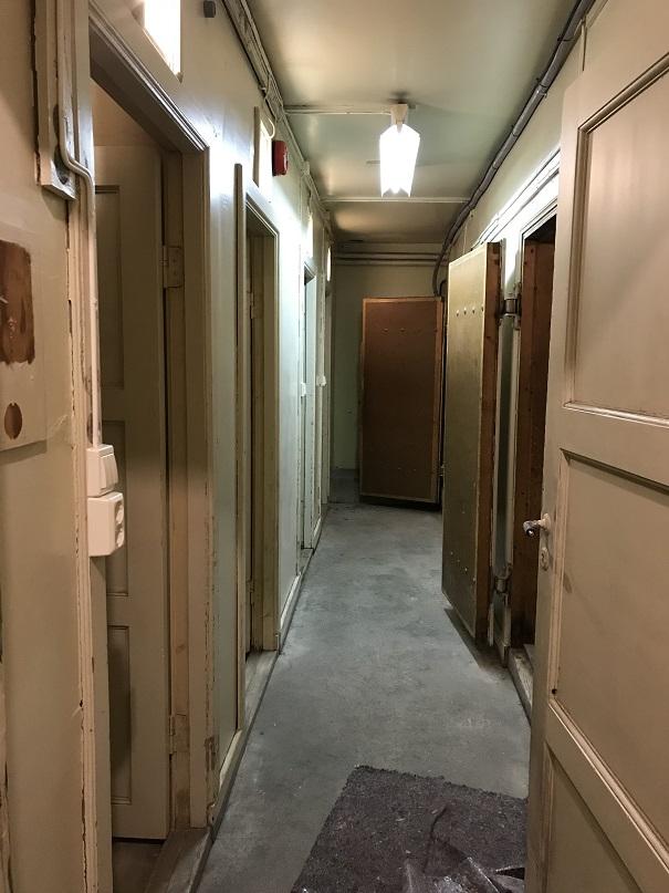 Korridor med fångceller