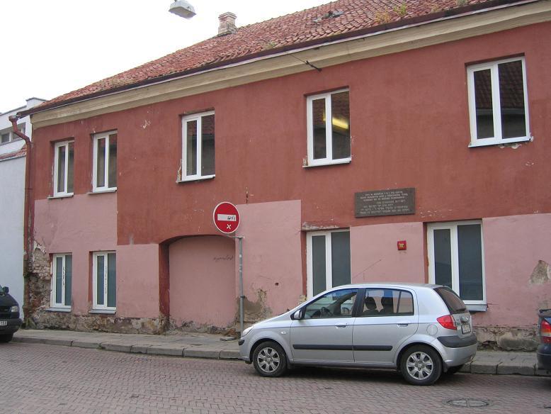 Här på Lydos Gatve låg fängelset i getto 1