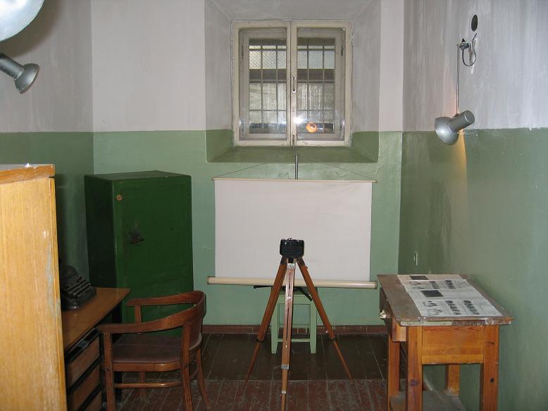 Rum där fångarna dokumenterades och fotograferades