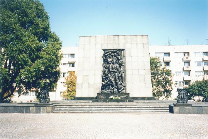 Minnesmonumentet över upproret i april och maj 1943