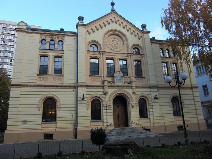 Nozyk synagogue - den enda synagogan som inte förstördes av nazisterna i Warszawa