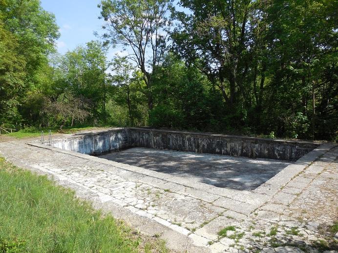 Swimmingpool ovanför führerbunkern