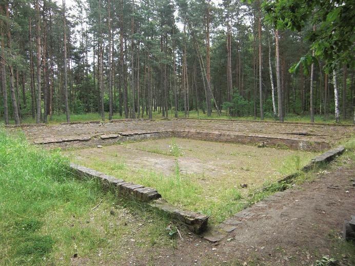 Vattenreservoar i lägret