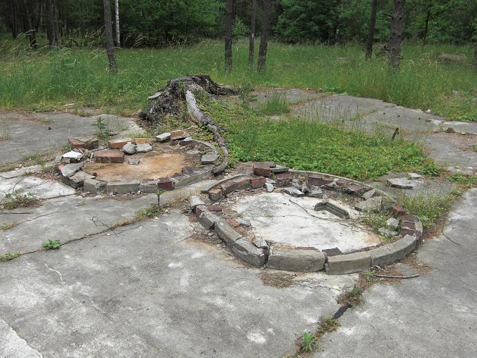 Ruiner efter lägerköket