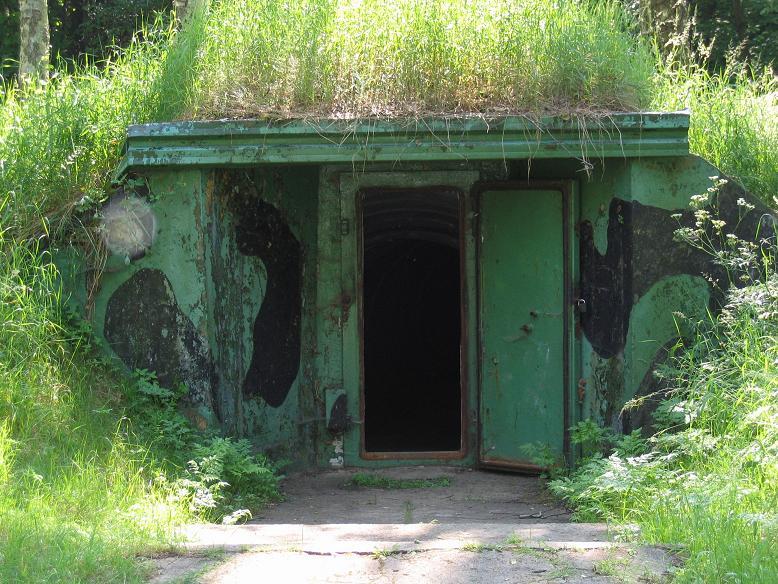 Ingången till bunkrarna